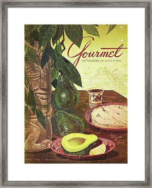 Avocado And Tortillas Framed Print