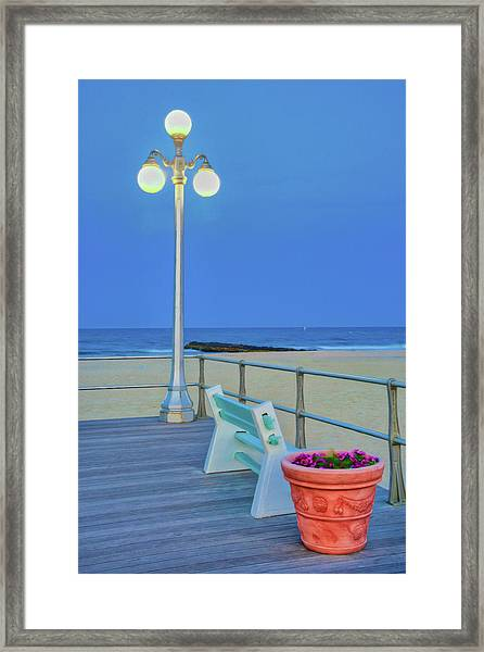 Avon Boardwalk At Twilight Framed Print