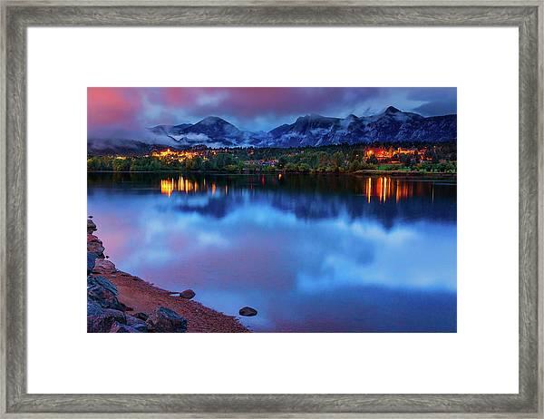 Framed Print featuring the photograph Awaiting Dawn by John De Bord