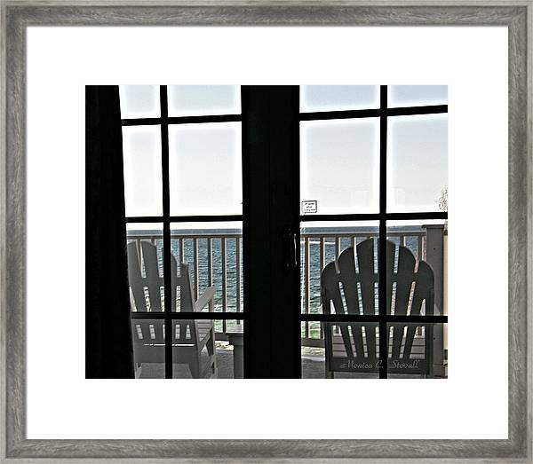 Awaiting Summer Warmth At Lake Michigan Framed Print