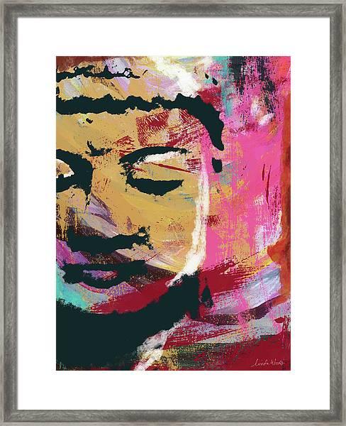 Awakened Buddha 3- Art By Linda Woods Framed Print