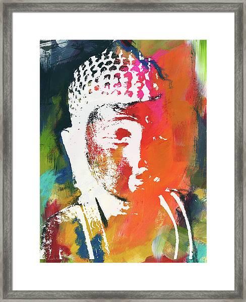 Awakened Buddha 5- Art By Linda Woods Framed Print