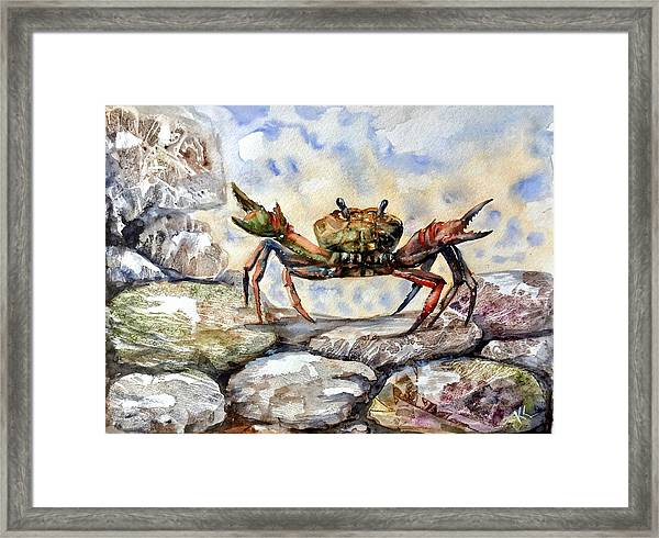 Framed Print featuring the painting Awaking by Katerina Kovatcheva