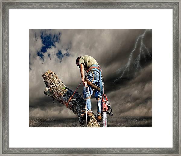Ax Man Framed Print
