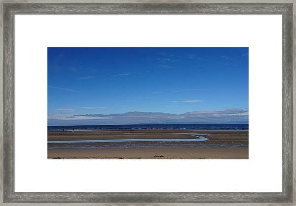 Ayr Beach, Scotland Framed Print