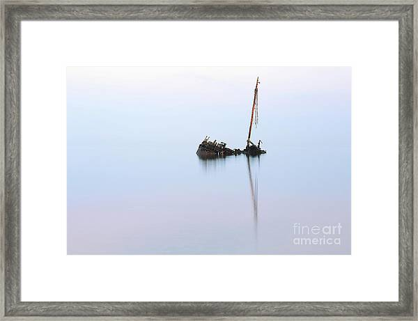Ayrshire Shipwreck In Sunrise Ref3342 Framed Print