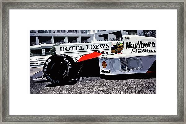 Ayrton Senna - Montecarlo Framed Print