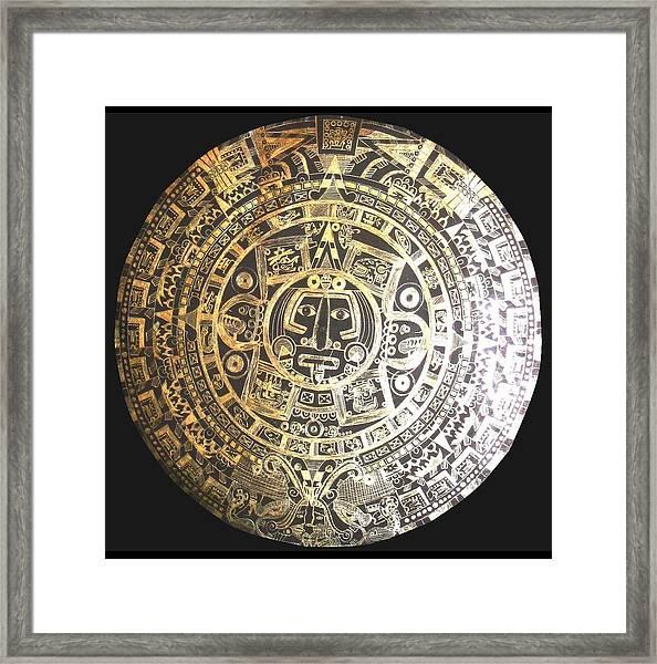 Aztec Calendar Framed Print