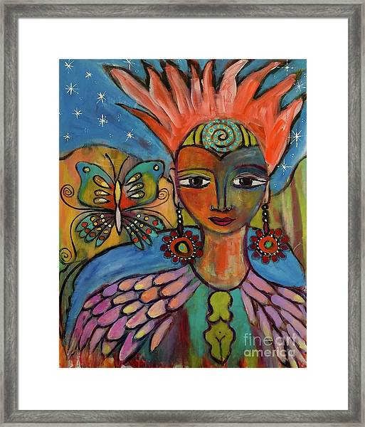 Aztec Princess Framed Print