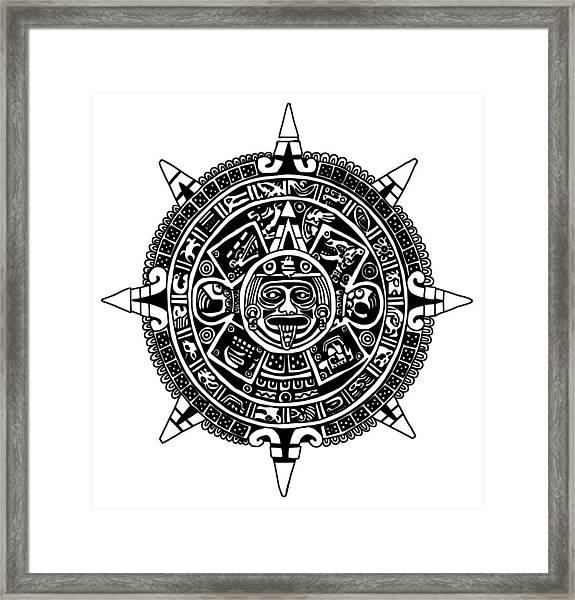 Aztecs Calendar Framed Print