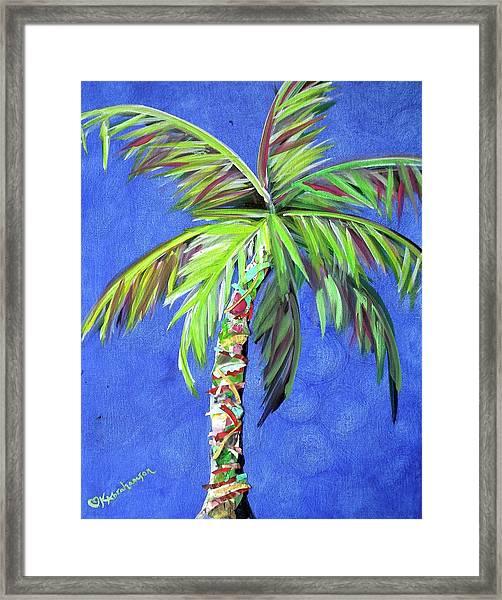 Azul Palm Framed Print