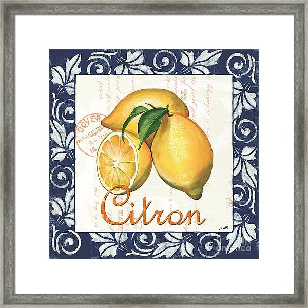 Azure Lemon 2 Framed Print