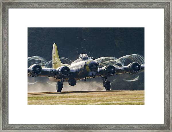 B-17 Chuckie Taking Off Framed Print