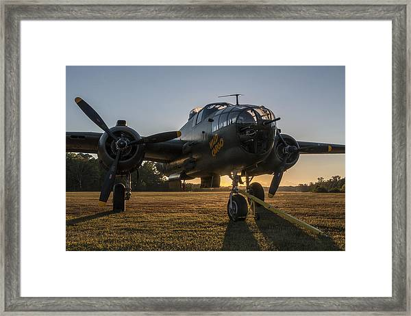 B-25 Mitchell Sunset Framed Print