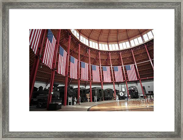 B And O Museum Roundhouse In Baltimore Maryland Framed Print