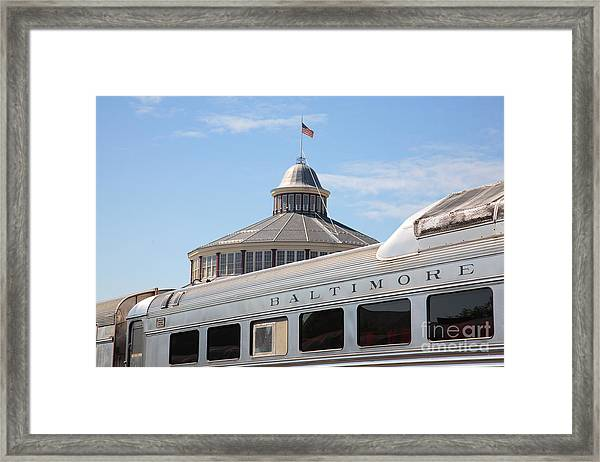 B And O Railroad Museum In Baltimore Maryland Framed Print