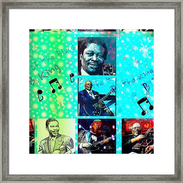 B B King Of The Blues  Framed Print
