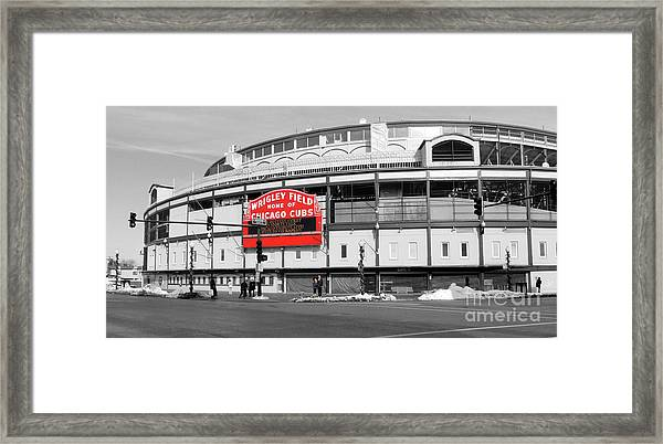 B-w Wrigley 100 Years Young Framed Print