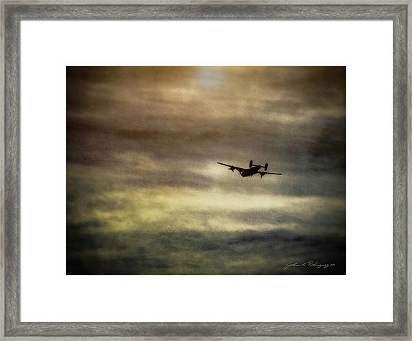 B24 In Flight Framed Print
