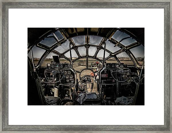 B29 Superfortress Fifi Cockpit View Framed Print