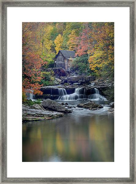 Babcock Grist Mill 2 Framed Print by Michael Donahue