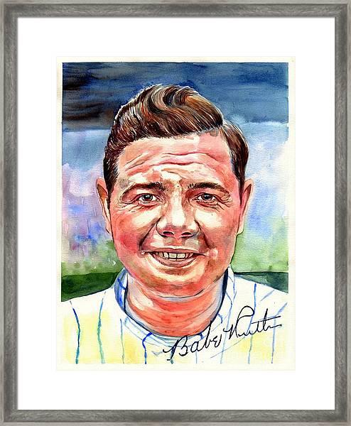 Babe Ruth Portrait Framed Print