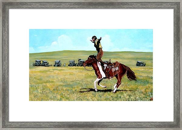 Babette Rides Again Framed Print