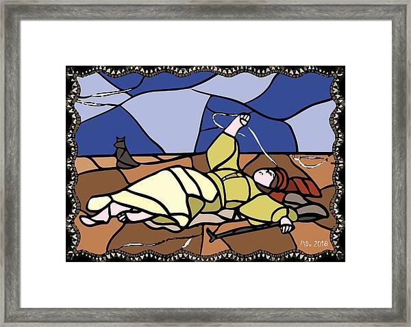 Babie Lato Stained Glass Version Framed Print