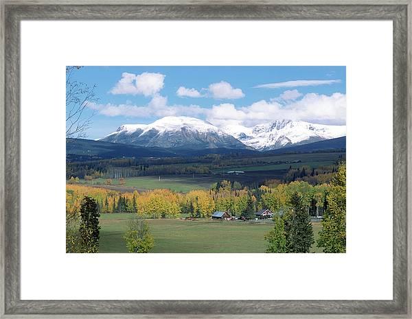 Babine Range-fall View Framed Print