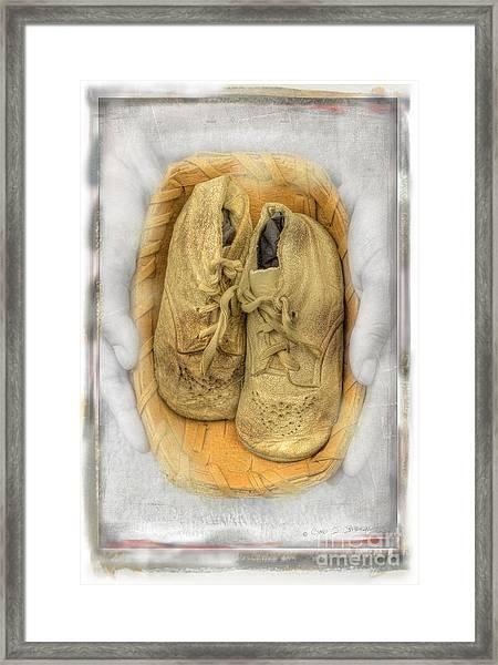 Baby Basket Shoes Framed Print