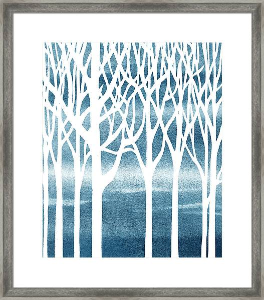 Baby Boy Room Blue Forest Framed Print