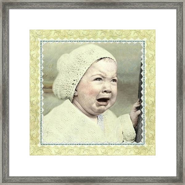 Baby Cries Framed Print