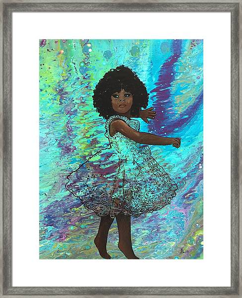 Baby Dancer Remix  Framed Print