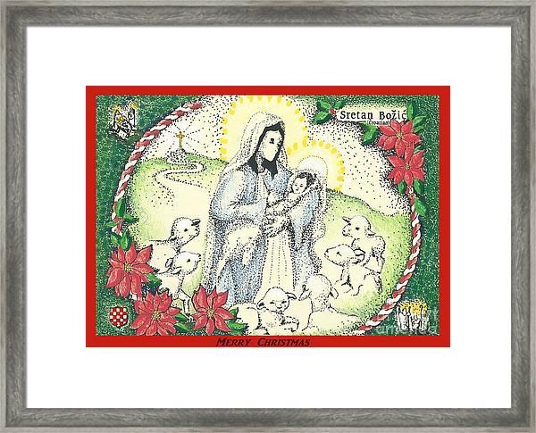 Baby Jesus In Medjugorje Framed Print