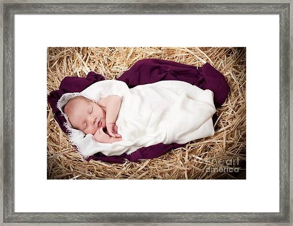Baby Jesus Nativity Framed Print