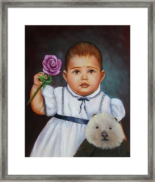 Baby Otter Framed Print