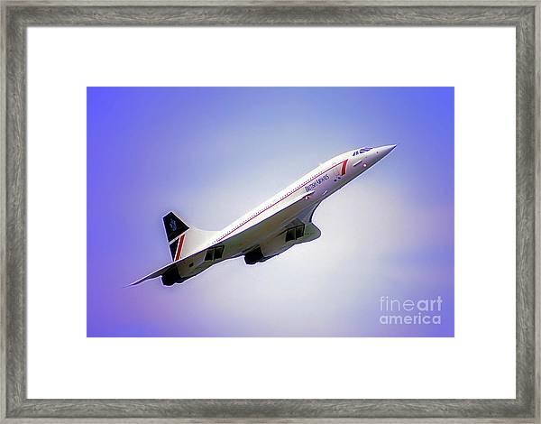 Bac Concorde  Framed Print
