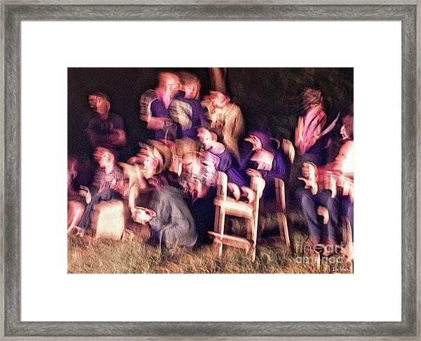 Bacchanalian Freak Show With Hieronymus Bosch Treatment Framed Print