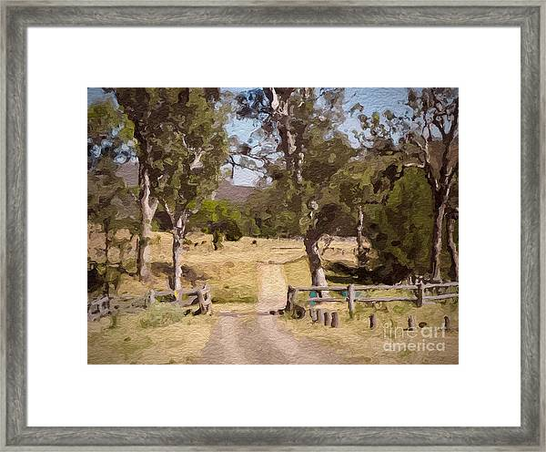 Back Country Farm Track Framed Print