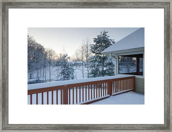 Winter Deck Framed Print
