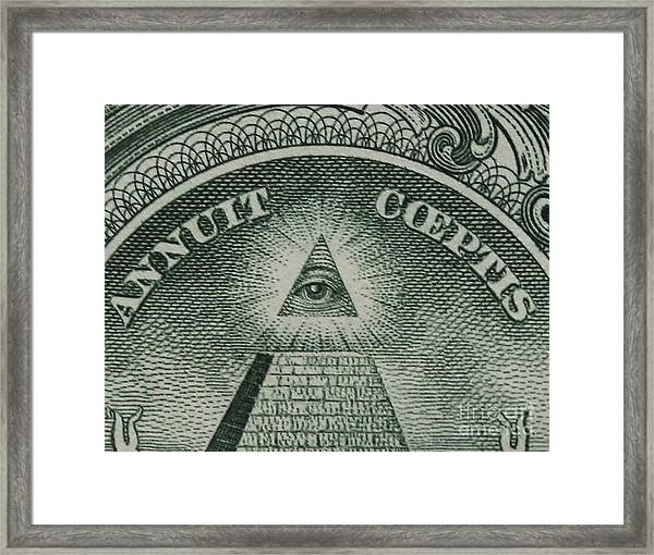 Back Of 1 Dollar Bill Framed Print