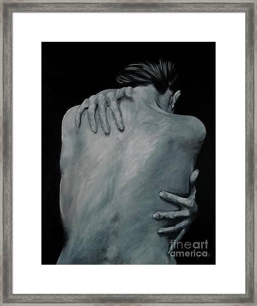 Back Of Naked Woman Framed Print
