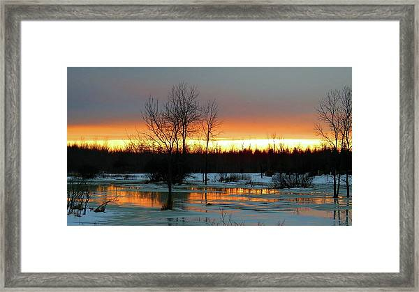 Back Roads Of Clayton Framed Print