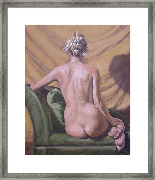 Back Study Framed Print