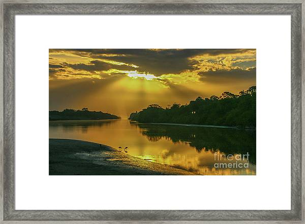 Framed Print featuring the photograph Back Up Reflection by Tom Claud