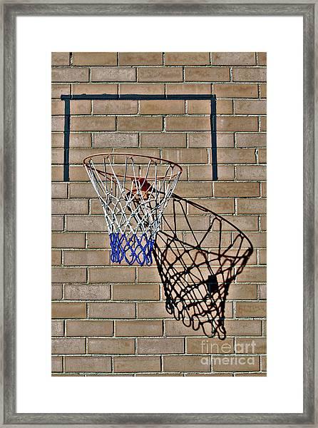 Backyard Basketball Framed Print