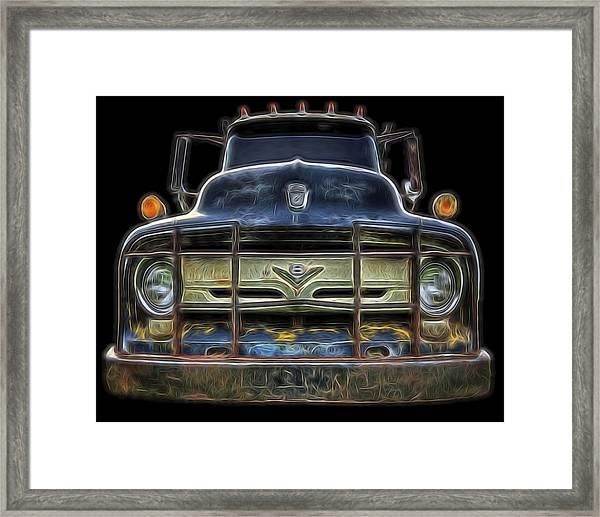 Bad 56 Ford Framed Print