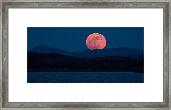 Bad Moon Rising Framed Print by Sandy Sisti