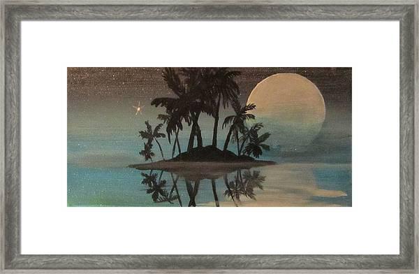Bad Moon Sparkles   Framed Print