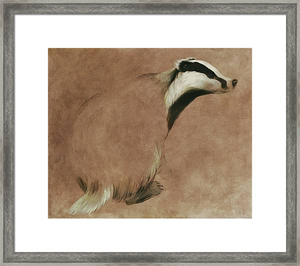 Badger Framed Print